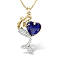 Mermaid Heart Diamond Pendant