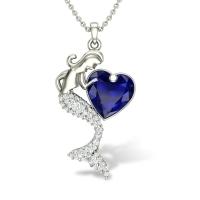 Mermaid Neckess Diamond Pendant