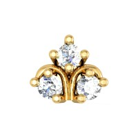 Novah Yellow Gold Diamond Nosepin Screw