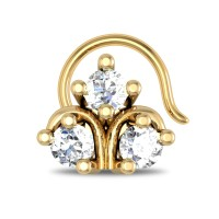 Raylee Yellow Gold Diamond Nosepin Wire