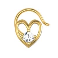 Amirah Yellow Gold Diamond Nosepin Wire