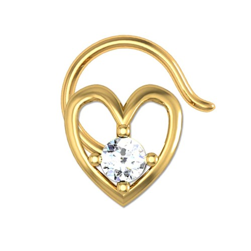 Amirah Yellow Gold Diamond Nosepin Wire