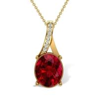 Prayana 18kt Gold and Diamond Pendant