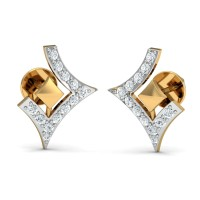 Sarah Gold  Diamond Earrings