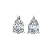 Aanandita White Gold Stud Earrings for Women