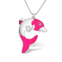Wiley Dolphin Diamond Pendant