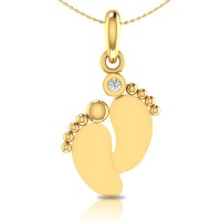 Willow Gold and Diamond Pendant