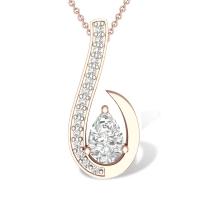 Elisabeth 18k Simulated Diamond Pendant