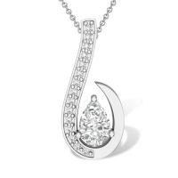 Novah 18k Simulated Diamond Pendant