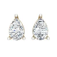 Aanandita Yellow Gold Stud Earrings for Women
