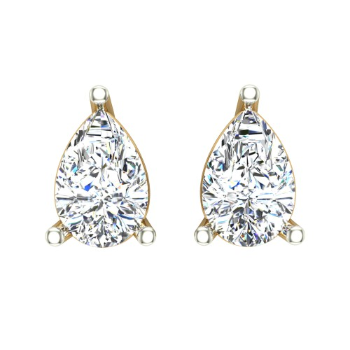 Aanandita Yellow Gold Stud Earrings for Women