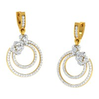 Anura  Yellow Gold  Diamond Earrings