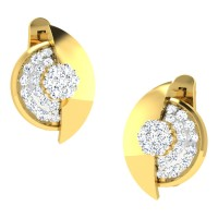 Aruna Yellow Gold  Diamond Earrings