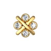 Yareli Yellow Gold Diamond Nosepin Screw