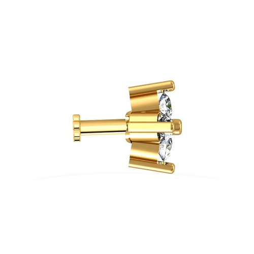 Yaritza Yellow Gold Diamond Nosepin Screw