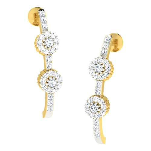 Deepti Yellow Gold  Diamond Earrings