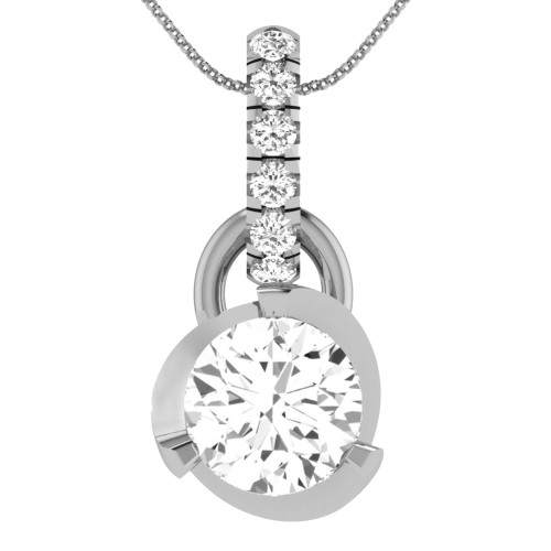 925 Sterling Silver With Zirconia Reign Pendant
