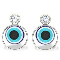 Alena Evil Eye Diamond Earrings