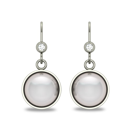Anna Pearl and Diamond Drop Earrings