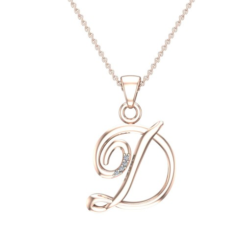Anne Initial Diamond Pendant