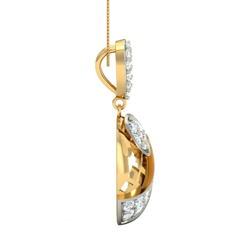 Yesly Gold and Diamond Pendant