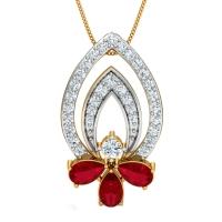 Fineena Gold and Diamond Pendant
