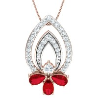 Karishma Gold and Diamond Pendant