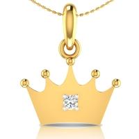 Crown Gold Pendant