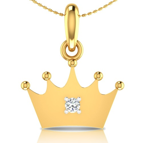 Crown Gold Pendant