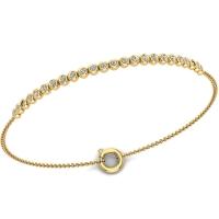 Elvira Gold and Diamond Bracelet