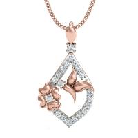 Adhishree Gold and Diamond Pendant