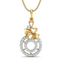 Mallica Gold and Diamond Pendant