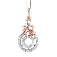 Ahalya Gold and Diamond Pendant