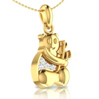 Harper Gold and Diamond Pendant