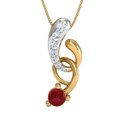 Franki Gold and Diamond Pendant