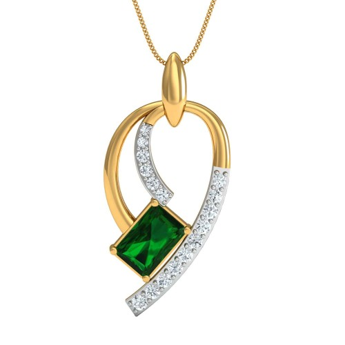 Beatrice Gold and Diamond Pendant