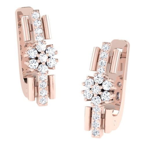Isha Rose Gold  Diamond Earrings