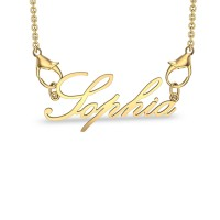 Sophia Yellow Gold Pendant