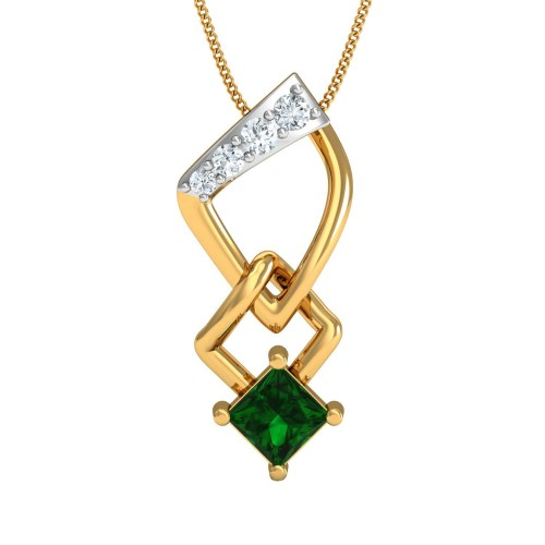 Breena Gold and Diamond Pendant