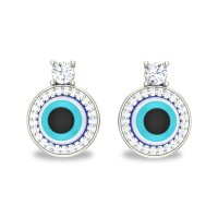 Tamasi White Gold Diamond Stud Earrings For Women