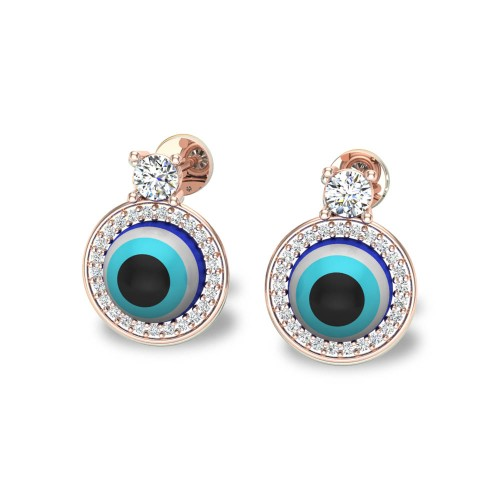 Tamasi  Evil Eye Diamond Studs