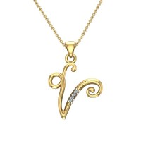 Katelyn Initial Diamond Pendant