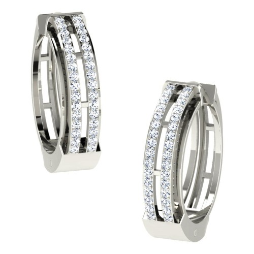 Aashi  White Gold  Diamond Earrings