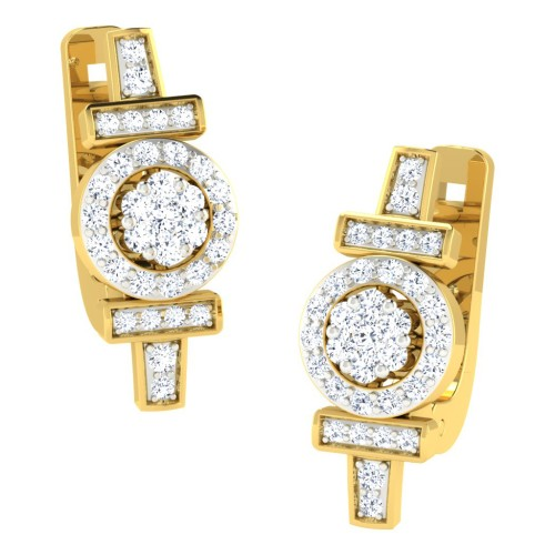 Adya Yellow Gold  Diamond Earrings