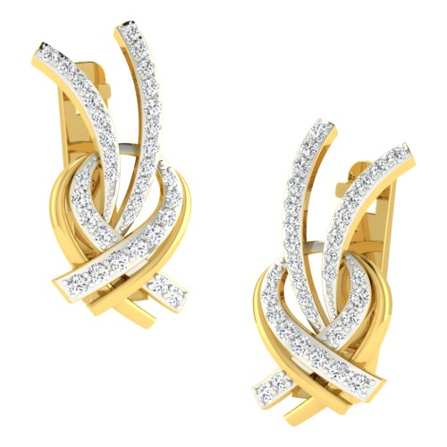 Anindita Yellow Gold  Diamond Earrings