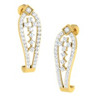 Anuka Yellow Gold  Diamond Earrings