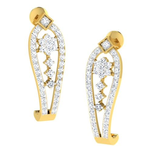 Anupa Yellow Gold  Diamond Earrings