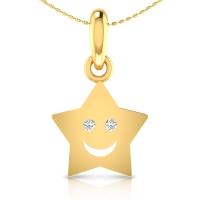 Zylphia Gold and Diamond Pendant